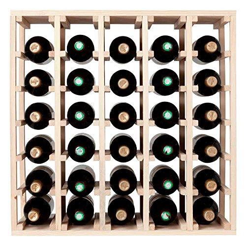 Quadratisch Fernand Charron-Holz Weinregal-30Flaschen-Kiefer-kariert Modular Wein Cube - Modular Wine Rack