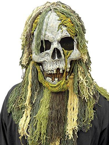 Preisvergleich Produktbild Skelett Zombie Sumpfmonster Halloween Maske grau grün