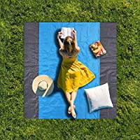 Afufu Pocket Picnic Blanket Beach Mat Waterproof Folding Picnic Blanket Extra Large 210 x 200cm Outdoor Blanket Includes 4 Stake for Hiking, Camping Park and Music Festivals, Holiday Essentials