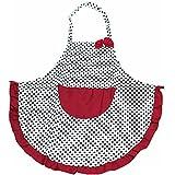 San Bodhi® Mujer Niña Retro Vintage de cocción de cocina diseño de lunares cocinar delantal