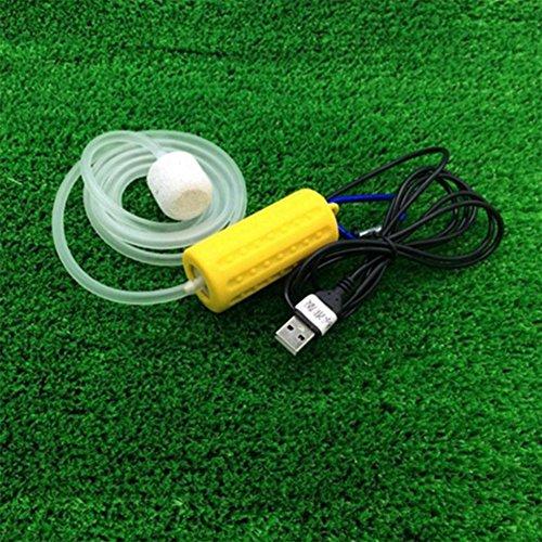 Etbotu Mini-USB, für Aquarium Fisch Tank Aquarium Luftpumpe und Zubehör gelb