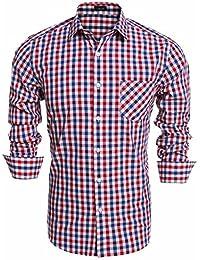 Amazon.es  camisa cuadros hombre - Clásico   Camisas   Camisetas ... 7ecda4a8d6d