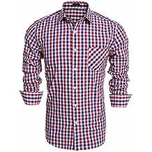 9ca6906457564 Coofandy Camisa Casual a Cuadros Manga Larga para Hombre Vestir