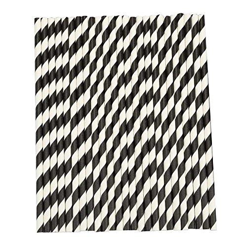 pailles-toogoor25pcs-pailles-de-papier-a-rayures-pour-fete-fournitures-de-mariage-noir-et-blanc