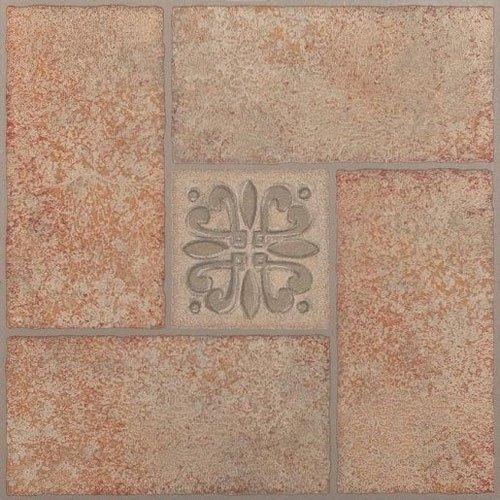 Creative Home: Nexus Vinyl Self Stick Tile: 421 Beige Terracotta Center Motif: 1 Box 20 Tiles: Covers 20 Sq. Ft. by Creative Home (Sq Cover)