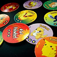 POGS 10 Assorted MILKCAPS - POKEMON - All Different - Ultra Rare - POG SHOP
