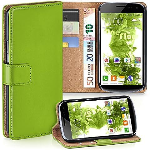 Bolso OneFlow para funda Samsung Galaxy Nexus Cubierta con tarjetero   Estuche Flip Case Funda móvil plegable   Bolso móvil funda protectora accesorios móvil protección paragolpes en Verde