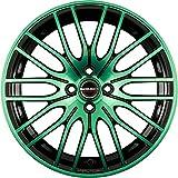 Borbet CW 4 black green glossy 8x17 ET48 5.00x112 Hub Bore 72.50 mm - Alu felgen