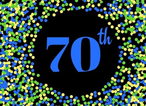 70th: Blue Cover Design 70, Seventieth, Birthday, Anniversary Party Guest Book. Free Layout Message Book For Family and Friends To Write in, Use ... size: Volume 22 (Celebration Guest