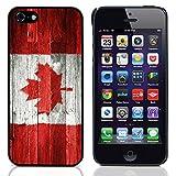 Graphic4You Vintage Uralt Holz Kanada Kanadisch Flagge Design Harte Dünn Hülle Tasche Schale Schutzhülle für Apple iPhone SE / 5 / 5S