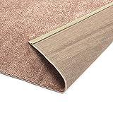 Designer-Teppich Pastell Kollektion | Flauschige Flachflor Teppiche fürs Wohnzimmer, Esszimmer, Schlafzimmer oder Kinderzimmer | Einfarbig, Schadstoffgeprüft (Rosa Rose, 140 x 200 cm)
