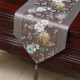 XIXI Klassische Tabellen-Markierungsfahnen-Abdeckungs-Brokat-Decken-Couchtisch-Tuch-Kunst-moderne chinesische Speisetisch-Dekoration, 33 * 300Cm