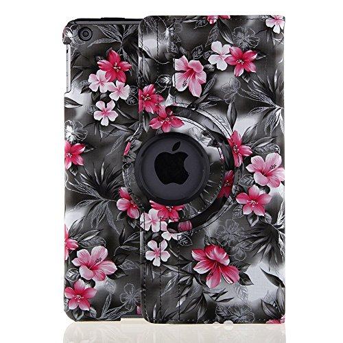 iPad Air 2Hülle Cover-topchances 360Grad drehbar PU Leder Case Smart Cover Ständer Tablet Fall Unterstützung Wake/Sleep Funktion mit Eingabestift