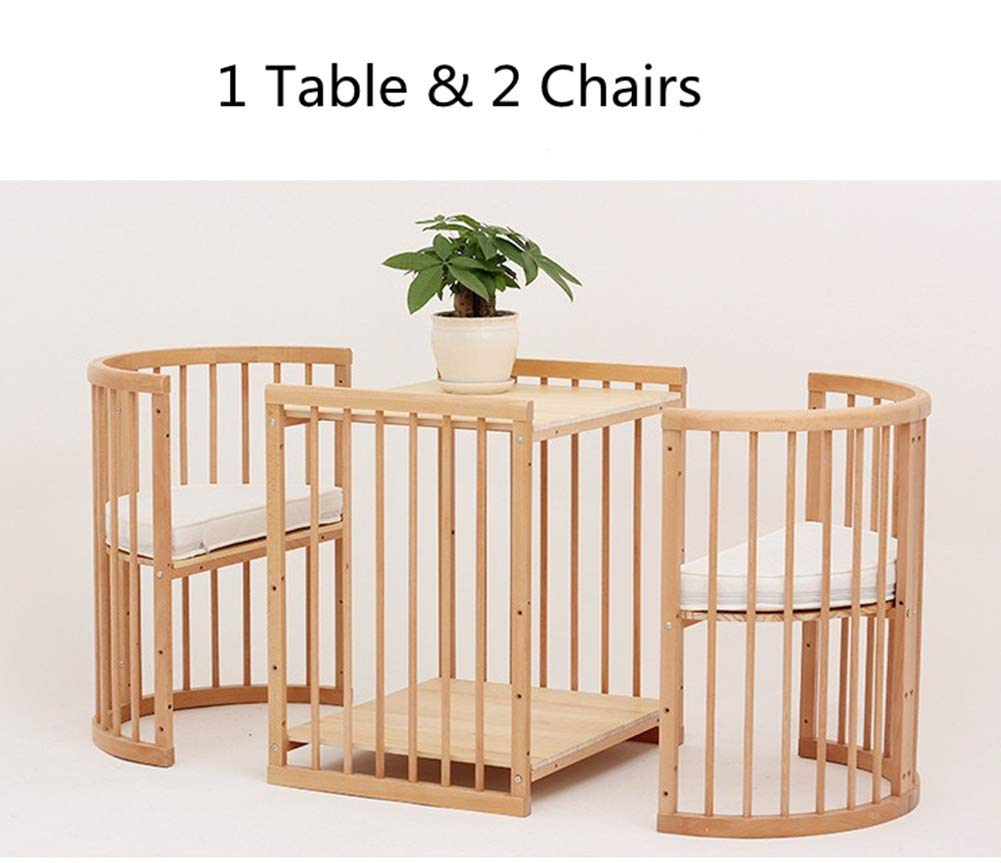 KLI 5 In 1 Multi Function Newborn Infant Crib Solid Harmless Paint Wood Baby Cradle Rocking Bed,125 * 73 * 76Cm KLI Shipping list : crib Size:125*73*76cm. Natural pine wood, harmless paint, polished and smooth, environmental wood, good for your baby 3 grade height adjustment: grade 1 (39cm from the floor)can be used for baby in 0-6 month, convenient to take out baby; grade 2 (26cm from the floor) for baby in 6-12 months and can stand independently;grade 3 (15cm from the floor) for baby in 1-3 years old. 6