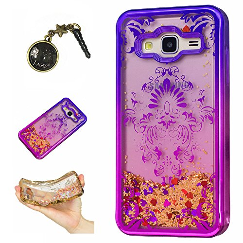 Preisvergleich Produktbild Laoke für Samsung Galaxy J3 (2016) J310 Hülle Schutzhülle Handy TPU Silikon Hülle Case Cover Durchsichtig Gel Tasche Bumper ( + Stöpsel Staubschutz) (7)