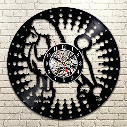 BiuTeFang Hollow VIP 3D Black Gum Record Orologio Moderno da Parete Vinile Parete Orologio sagoma Animale Decorazione della casa Cane Orologio da Parete