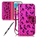 Galaxy S6 Edge Case, Galaxy S6 Edge Cover, JAWSEU Samsung Galaxy S6 Edge G925 Wallet Case Luxury Butterfly Premium PU Leather Flip Cover for Samsung Galaxy S6 Edge Protector Bumper Skin with Soft Silicone Case Credit ID Card Slots Magnetic Closure Kicksta