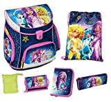 Scooli SDYO8252AZ Campus UP Schulranzen Set Disney Star Darlings, 6 teilig
