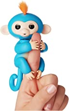 Pixie ABS and PVC 6 Ways Interactive Finger Monkey (Blue)