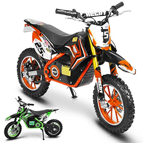 HECHT Akku-Pocketbike Pocketbike Elektro-Kindermotorrad Motorrad (Orange)
