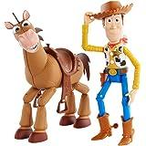 Disney Pixar Toy Story 4, Coffret Aventure figurines articulées Woody & Pile-Poil, tailles fidèles au film pour rejouer les s