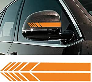Black CHSRZ 2pcs//Bag 20 x 2cm Funny Car Stickers Car Styling Auto Stripe Graphic Sticker Car Rearview Mirror Pasters Decals Tags Decoration