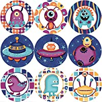 144 Space Aliens - Themed Reward Stickers for Teachers or Parents - Size 30mm