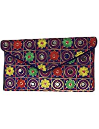Shubhangi Women's Sling Bag (Jaipuri Embroidered Handicraft Traditional Sling Bags,Multi-Coloured,R32004 Blue)
