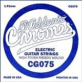 D\'Addario Corde seule à filet plat pour guitare électrique D\'Addario CG075, .075