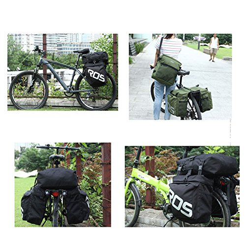 Mountain Bike Rack Gepäckträger Tasche hinten Sitz Tasche wasserdicht 3in 1Multifunktions MTB Bike Trunk Bag Grün