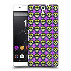 Snoogg Skull Purple pattern Designer Protective Back Case Cover For Sony Xperia C5 Ultra