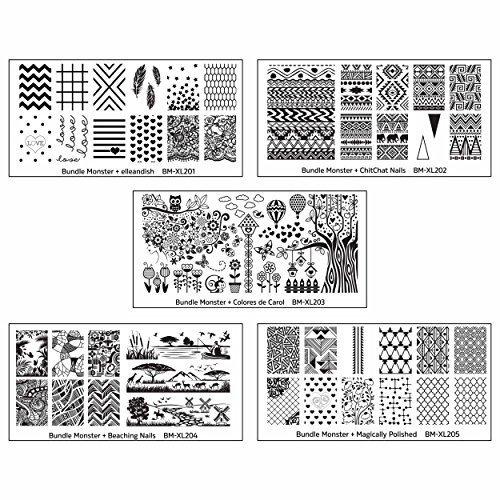Bundle Monster 5pc Blogger Collaboration Art Pour Les Ongles Vernis Cachet Plaques - Blogger Collaboration - 1 Jeu, X-Large