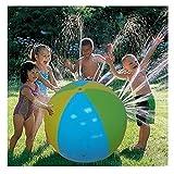 Eizur Wasserball Strandball Groß Wasser Spray Ball Springender Ball Wasser Flummi Aqua Strand Beach Ball Urlaub Strand Spiel Freizeit Spass - 75cm