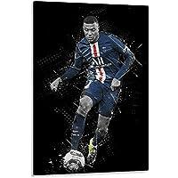 WODEWO Empire Poster sur toile avec photo de joueur de football Kylian Mbappe 30 x 45 cm