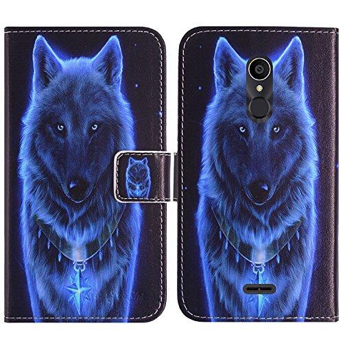 TienJueShi Wolf Flip Book-Style Brief Leder Tasche Schutz Hulle Handy Case Abdeckung Fall Wallet Cover Etui Skin Fur Alcatel 3C 5026D-2AALWEI 6 inch