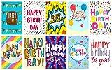 """Greetingles Geburtstagskarten mit Umschlägen, 20Stück, mit großem Buchstaben-Design, mit der Aufschrift """"Happy Birthday"""". Zehn verschiedene Designs. Hergestellt in Großbritannien"""