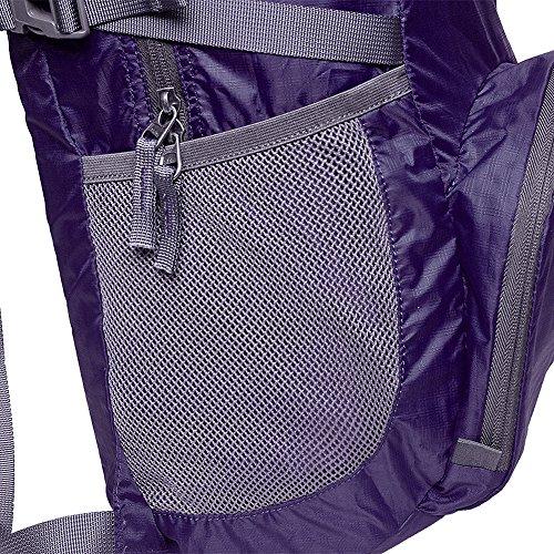 yeahjoy 35L leichter Travel Gear Faltbare Rucksack Wandern Daypack Radfahren Schule Air Reisen Carry On Rucksackreisen für Damen und Herren Violett