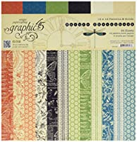 Graphic 45 Nature Sketchbook Patterns & Solids 12x12 Paper Pad, Multicoloured