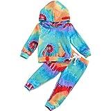 Bebé Niños Traje Invierno 2 Piezas Conjunto para Recién Nacido Camiseta + Pantalones de Terciopelo Chándal Ropa Deportivo en
