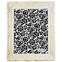Cornice per foto, stile Shabby Chic, colore: bianco con cornice in tessuto e stile Rococò, stile francese, plastica, bianco, 10x8