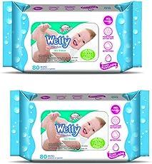Wetty Premium Wet Wipes - Sea Breeze (80 + 80 Count)