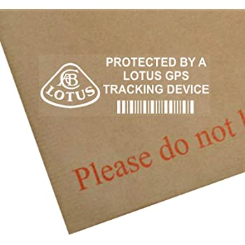 5 x LOTUS Tracking GPS Device Security BLACK Stickers-Car Alarm Tracker Signs