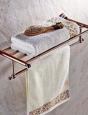 QMM bathroom accessories,Towel Bar Gold Wall Mounted 60*25*8cm(23.62*9.84*3.14inch) Brass