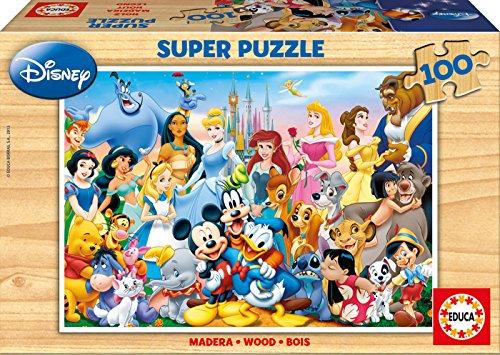 Educa 12002 - Holzpuzzle The Wonderful World of Disney (Holz Disney Puzzle)