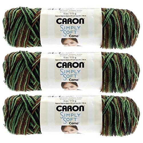 Caron Simply Soft Einfach Weich Camo Yarn-Renegade Camo -