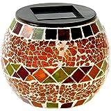 Solarleuchte Mosaik - Rot Orange