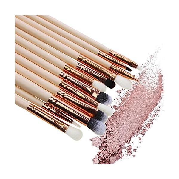 Pawaca – Juego de brochas de maquillaje de ojos, colección de belleza profesional, juego de herramientas de brochas de maquillaje para sombra de ojos, corrector, cejas, labios, 12 unidades