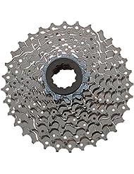 Shimano Kassette - Cassete / piñones para bicicletas  ( 9 velocidades ) ), color plateado, talla 11-32 Teeth