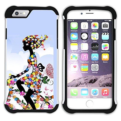 Graphic4You Carlino Guitar Art Case Design Hart + Weiche Kratzfeste Hülle Case Schale Tasche Schutzhülle für Apple iPhone 6 / 6S Design #16