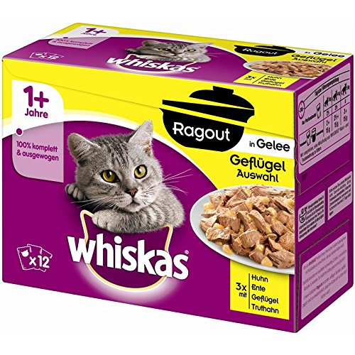 Whiskas PB MP ragout 1 + in Gelatina | 4 X 12 X 85g katzenf.